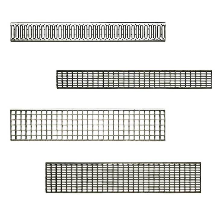 Metal gratings for modular channel class A15 and B125