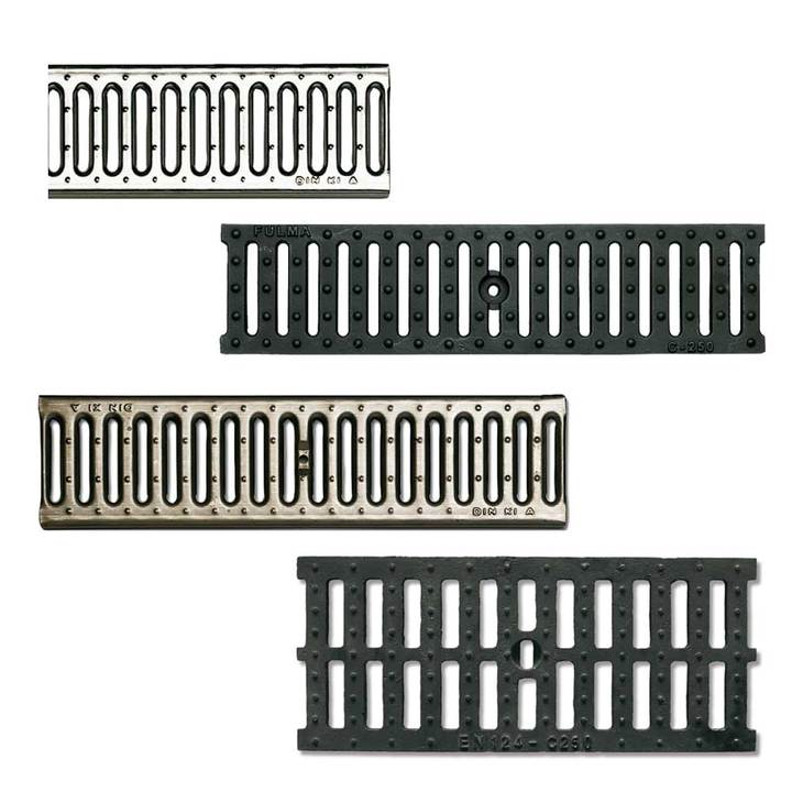 Metal gratings for modular channel class A15 and C250