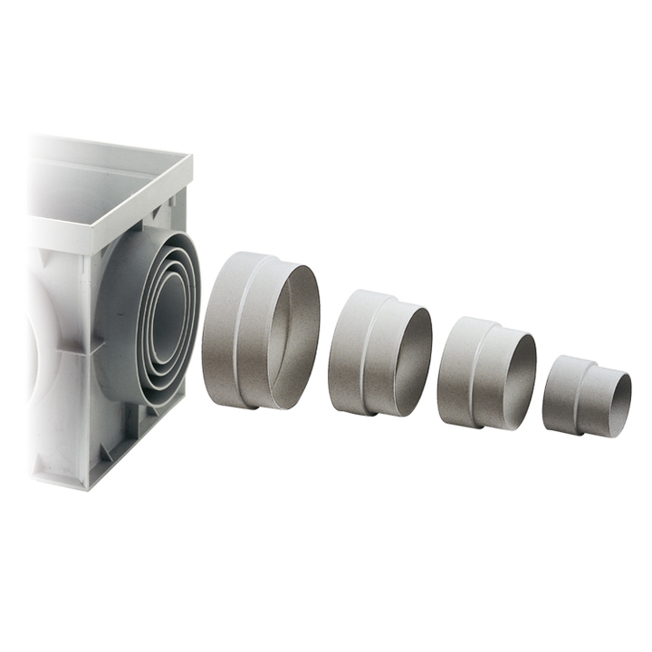 Pipe-fittings, partitions and bell-shaped syphones