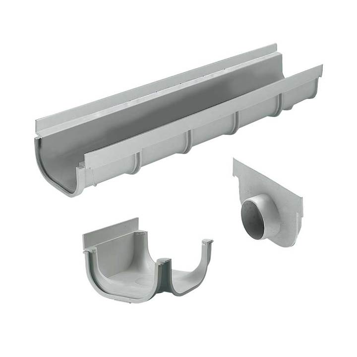 "Polypropylene modular channel ""STANDARD"" type with end cap"